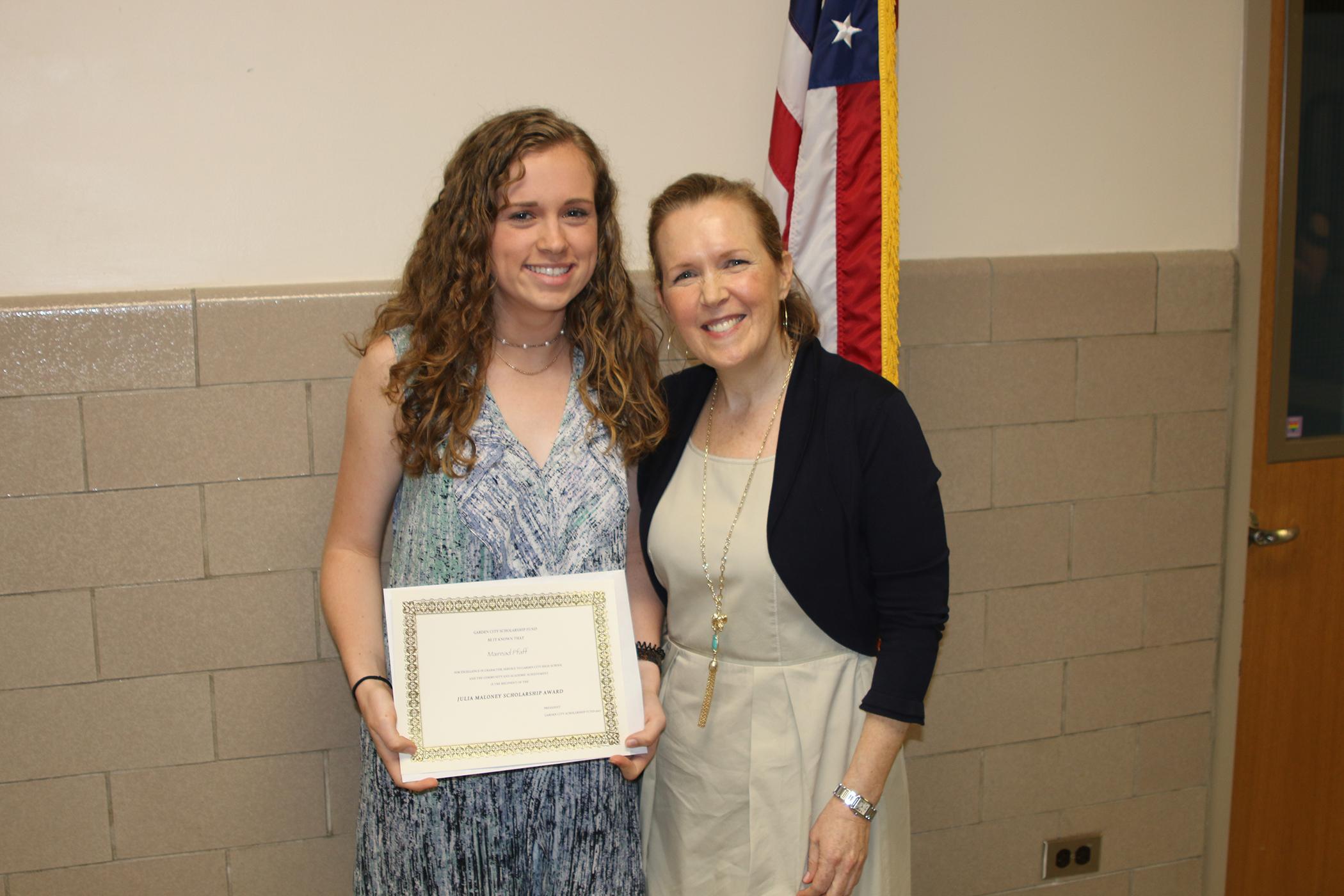 Garden City Scholarship Fund Julia Maloney Scholarship 2017