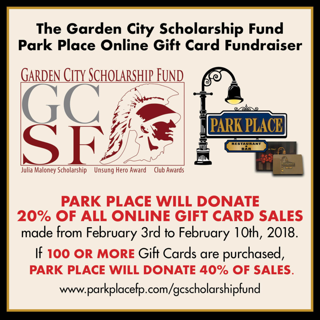 Garden City Scholarship Fund Park Place Restaurant fundraiser